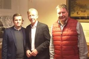 v.l. Maik Kaufmann, Dr. Frank Herwig, Mario Pecher, MdL
