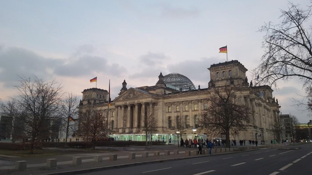 Blick auf das Reichstagsgebäude (Foto privat)